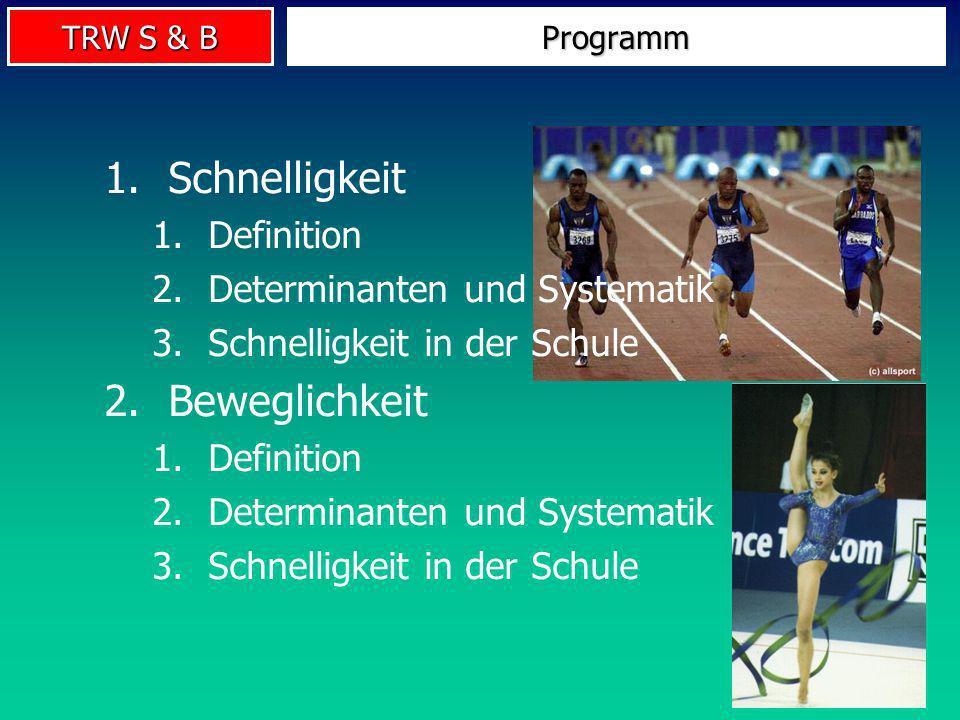 Schnelligkeit Beweglichkeit Definition Determinanten und Systematik