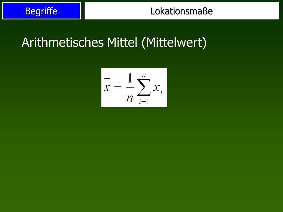 Arithmetisches Mittel (Mittelwert)