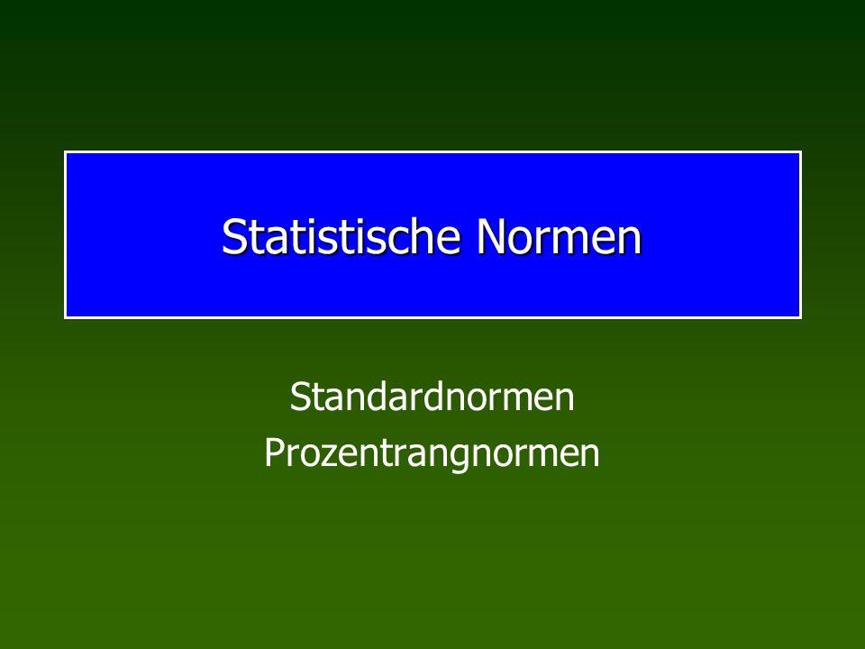 Standardnormen Prozentrangnormen
