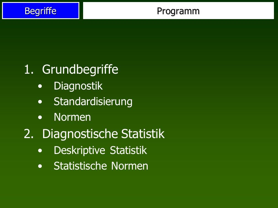 Diagnostische Statistik