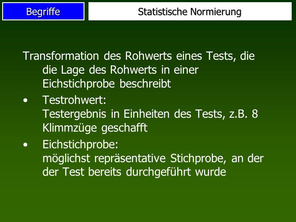 Statistische Normierung