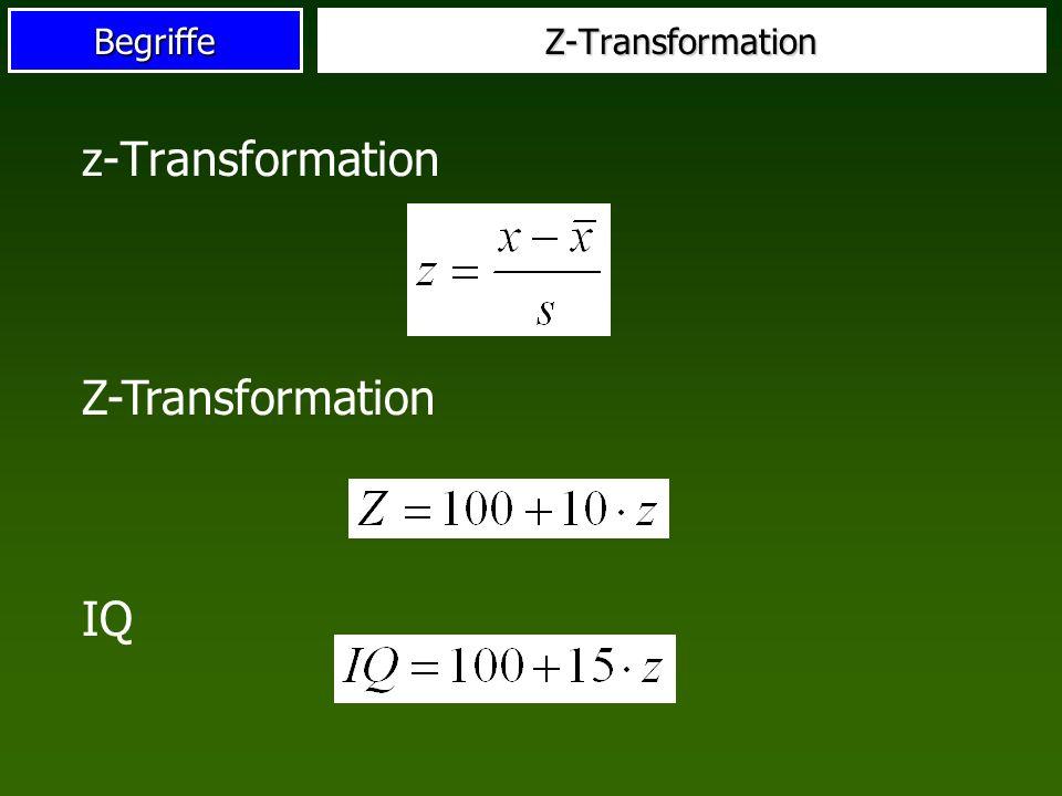Z-Transformation z-Transformation Z-Transformation IQ