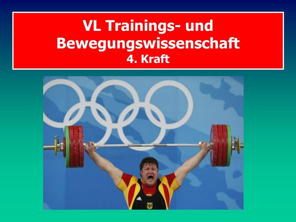 VL Trainings- und Bewegungswissenschaft 4. Kraft