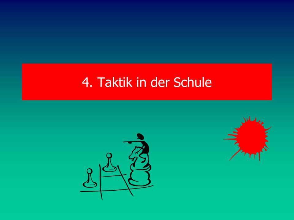 4. Taktik in der Schule