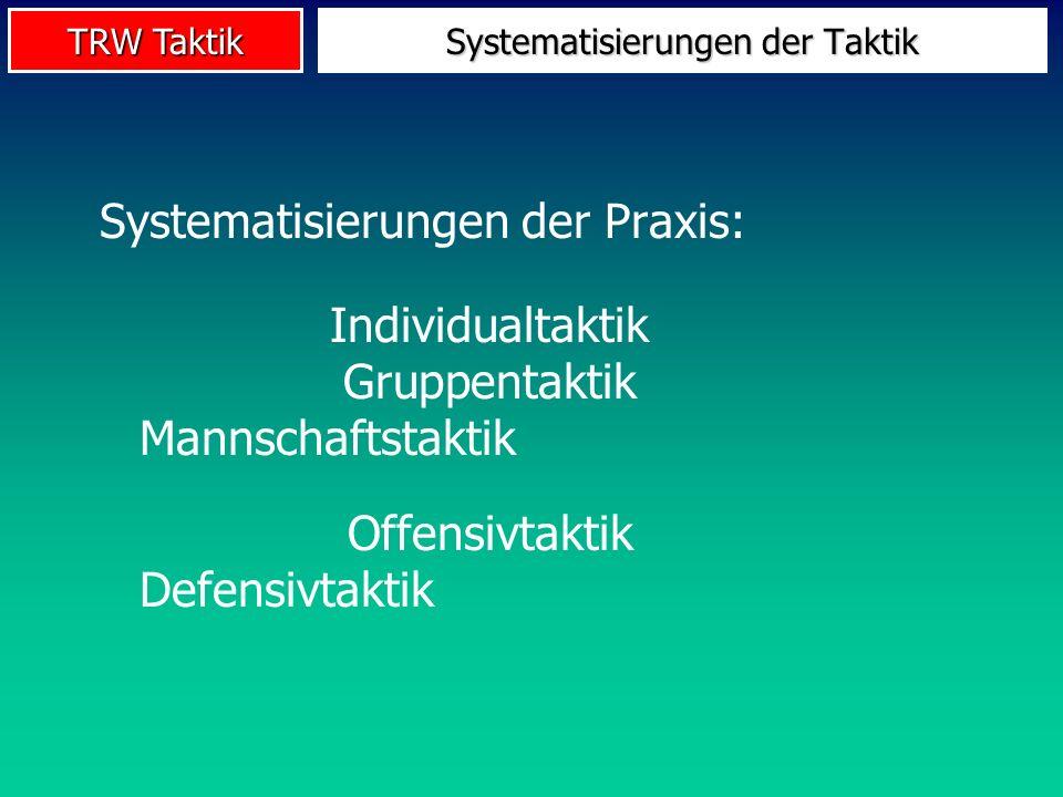 Systematisierungen der Taktik