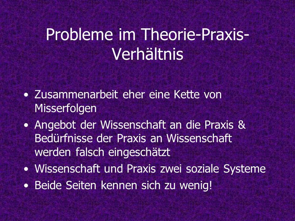 Probleme im Theorie-Praxis-Verhältnis