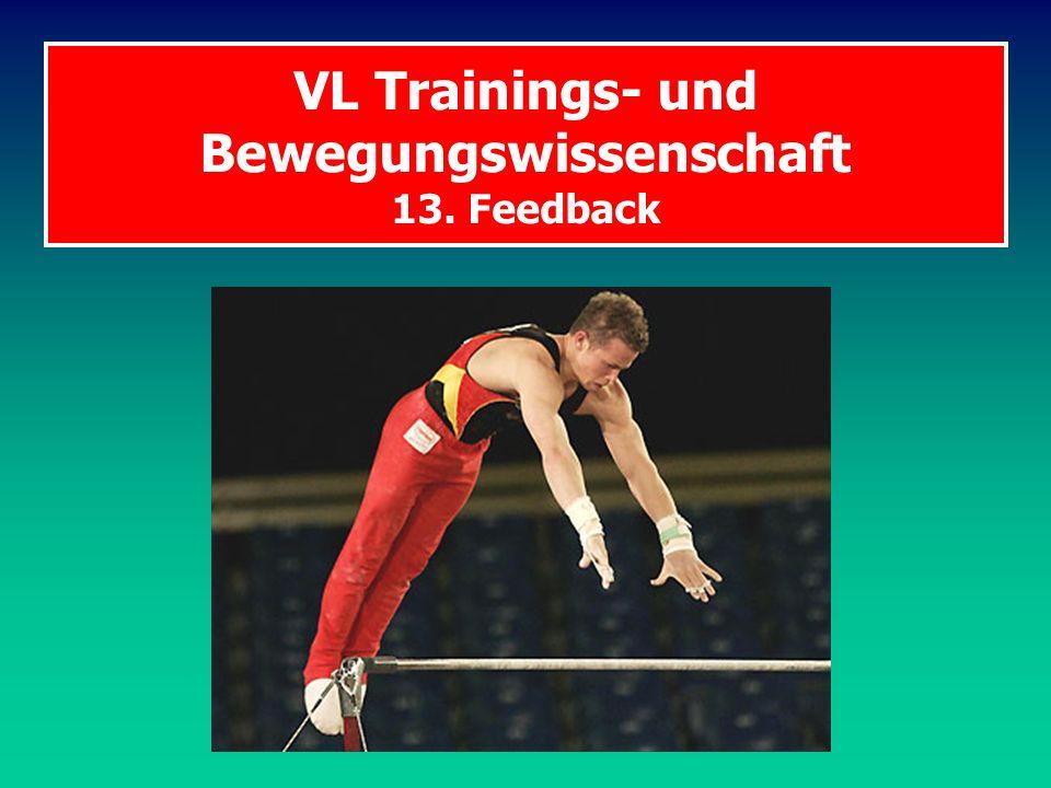 VL Trainings- und Bewegungswissenschaft 13. Feedback