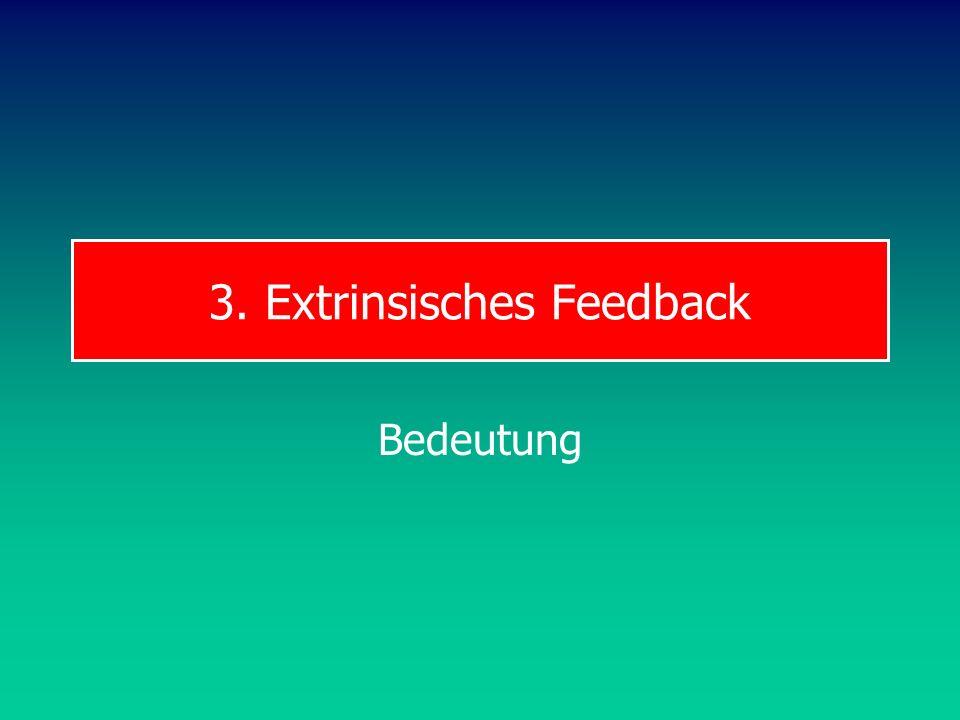 3. Extrinsisches Feedback