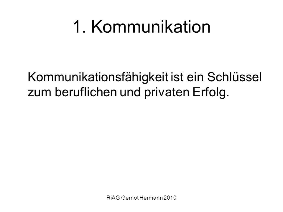 1. Kommunikation Kommunikationsfähigkeit ist ein Schlüssel zum beruflichen und privaten Erfolg.