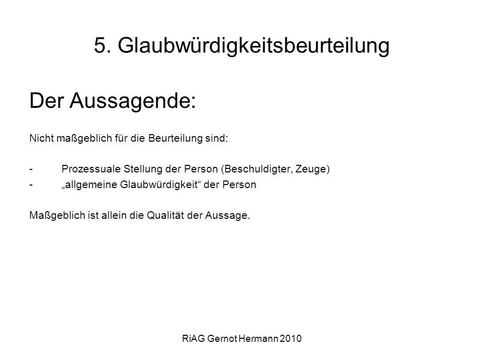 5. Glaubwürdigkeitsbeurteilung