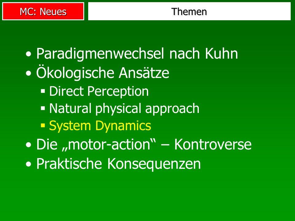 Paradigmenwechsel nach Kuhn Ökologische Ansätze