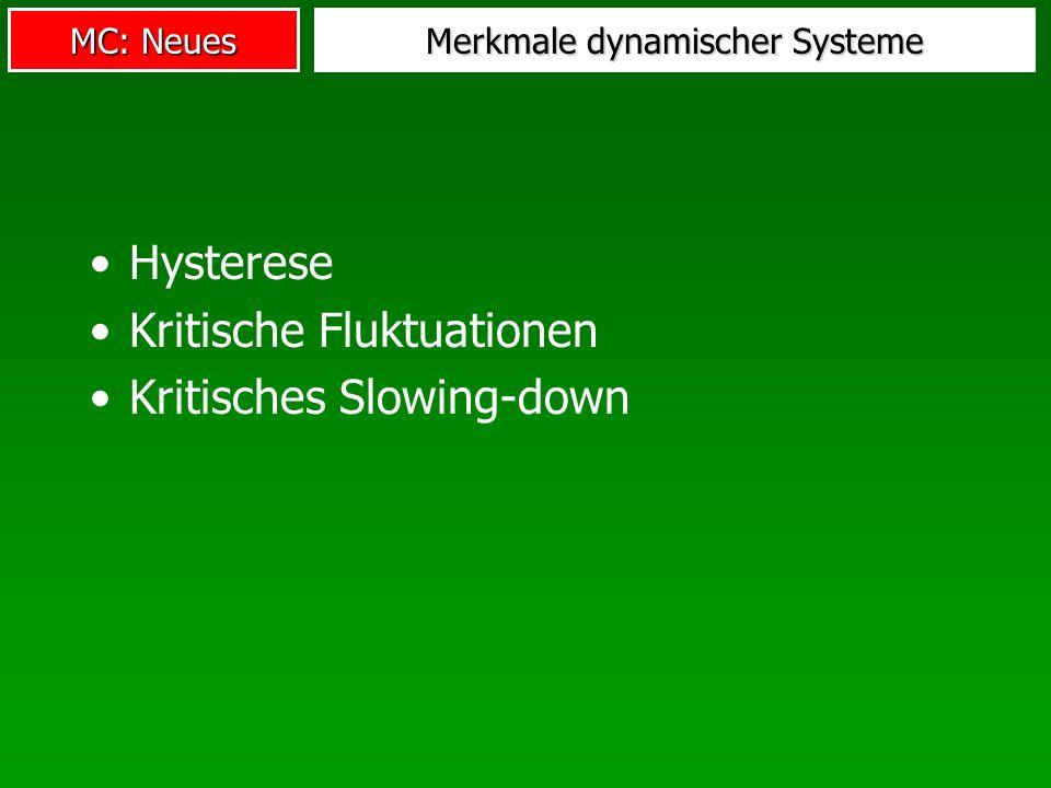 Merkmale dynamischer Systeme