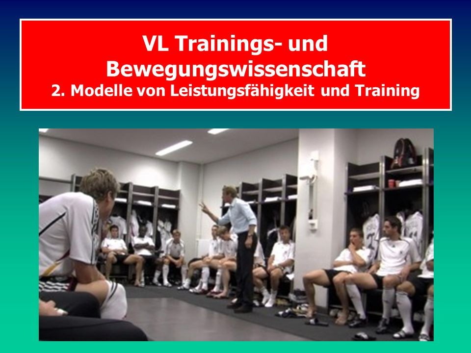 VL Trainings- und Bewegungswissenschaft 2