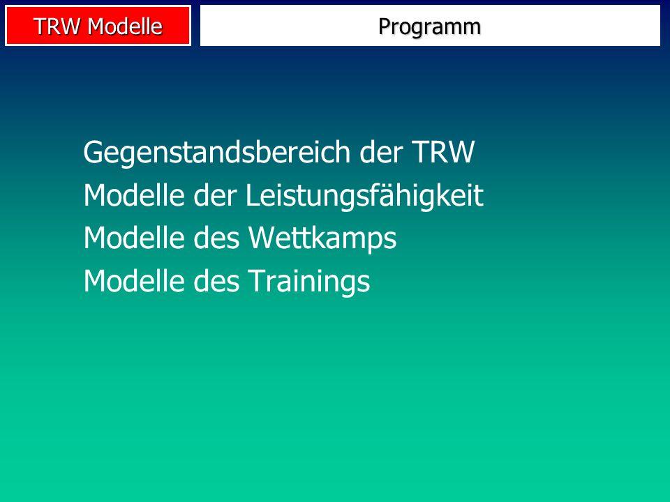 Gegenstandsbereich der TRW Modelle der Leistungsfähigkeit