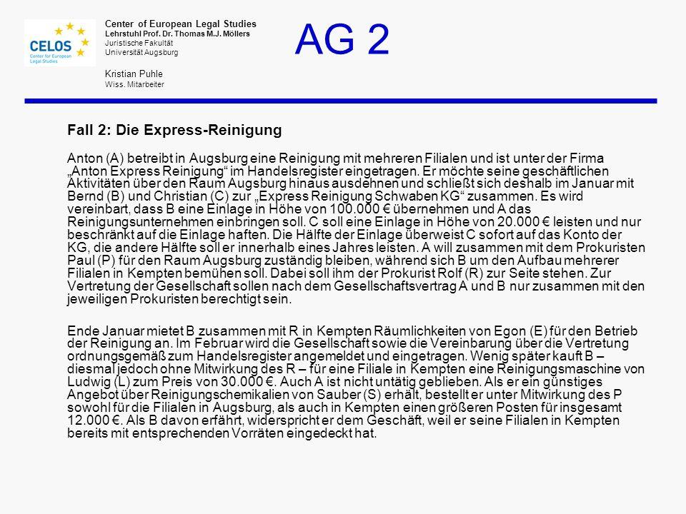 Fall 2: Die Express-Reinigung