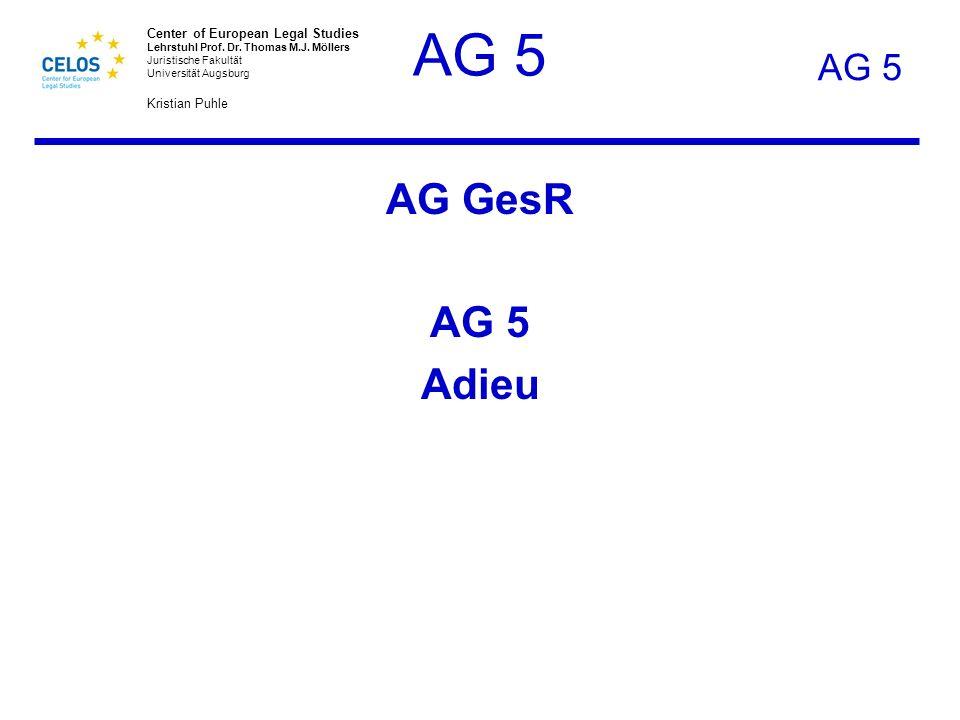 AG 5 AG GesR AG 5 Adieu