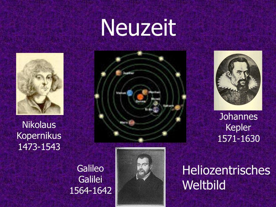 Neuzeit Heliozentrisches Weltbild (,,) Johannes Kepler 1571-1630