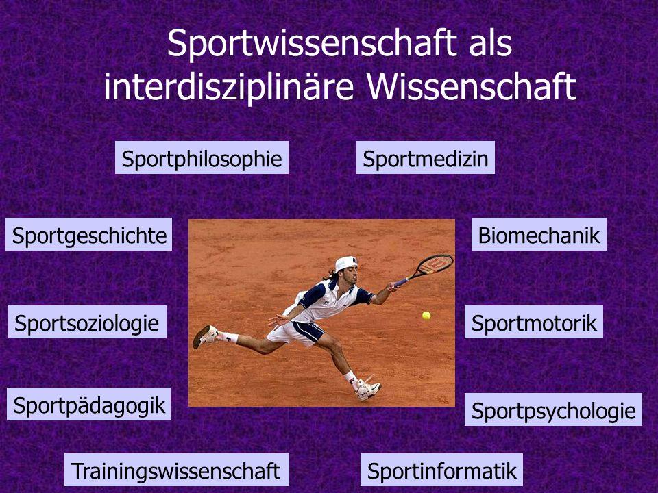 Sportwissenschaft als interdisziplinäre Wissenschaft
