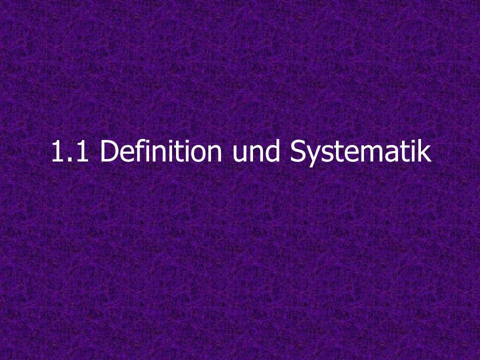 1.1 Definition und Systematik