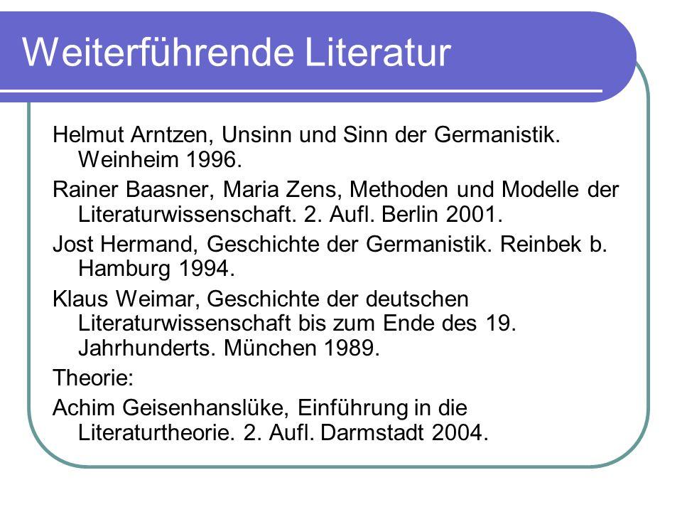 Weiterführende Literatur