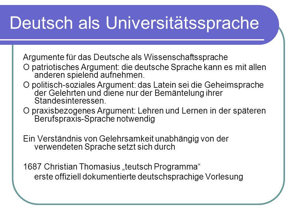 Deutsch als Universitätssprache