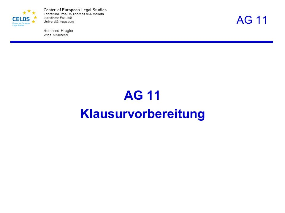 AG 11 Klausurvorbereitung