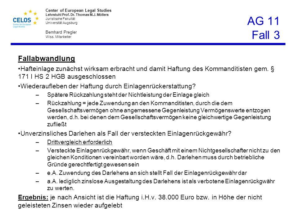 AG 11 Fall 3 Fallabwandlung