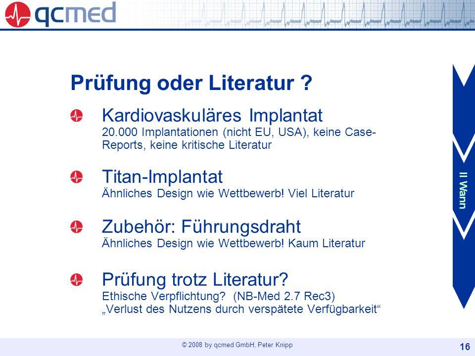 Prüfung oder Literatur