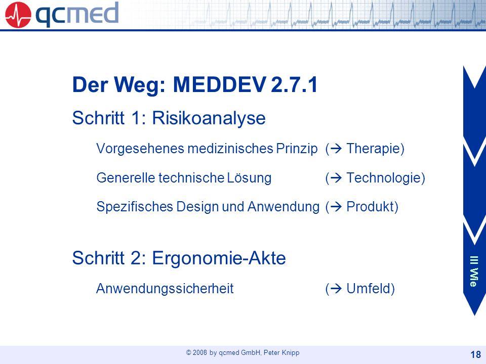 Der Weg: MEDDEV 2.7.1 I Thema.