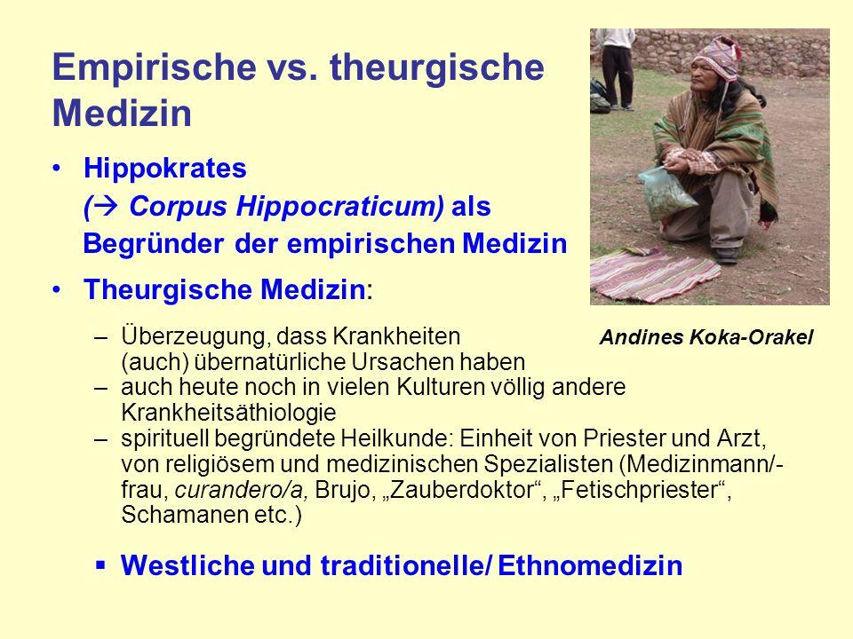 Empirische vs. theurgische Medizin