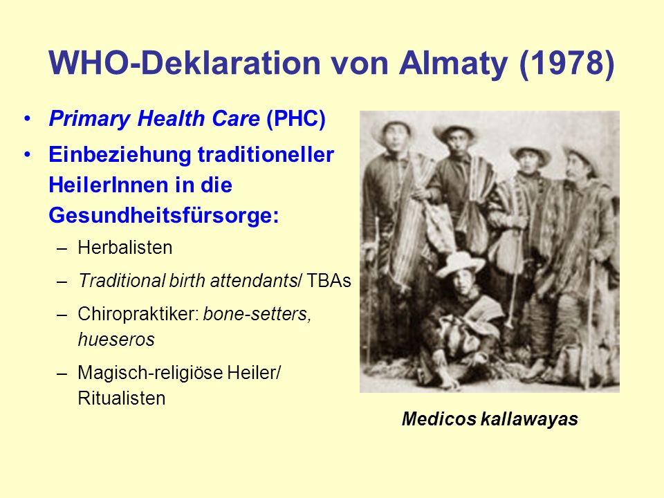 WHO-Deklaration von Almaty (1978)