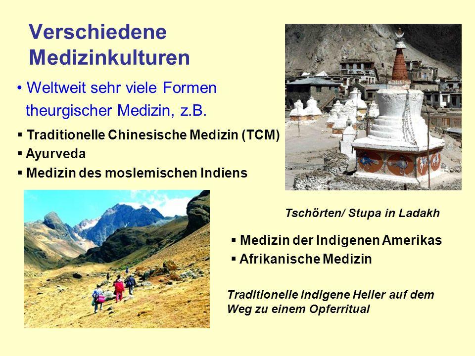 Verschiedene Medizinkulturen