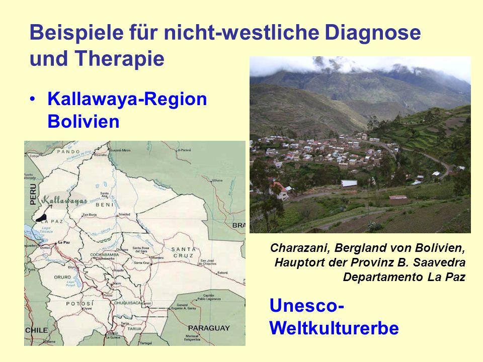 Beispiele für nicht-westliche Diagnose und Therapie