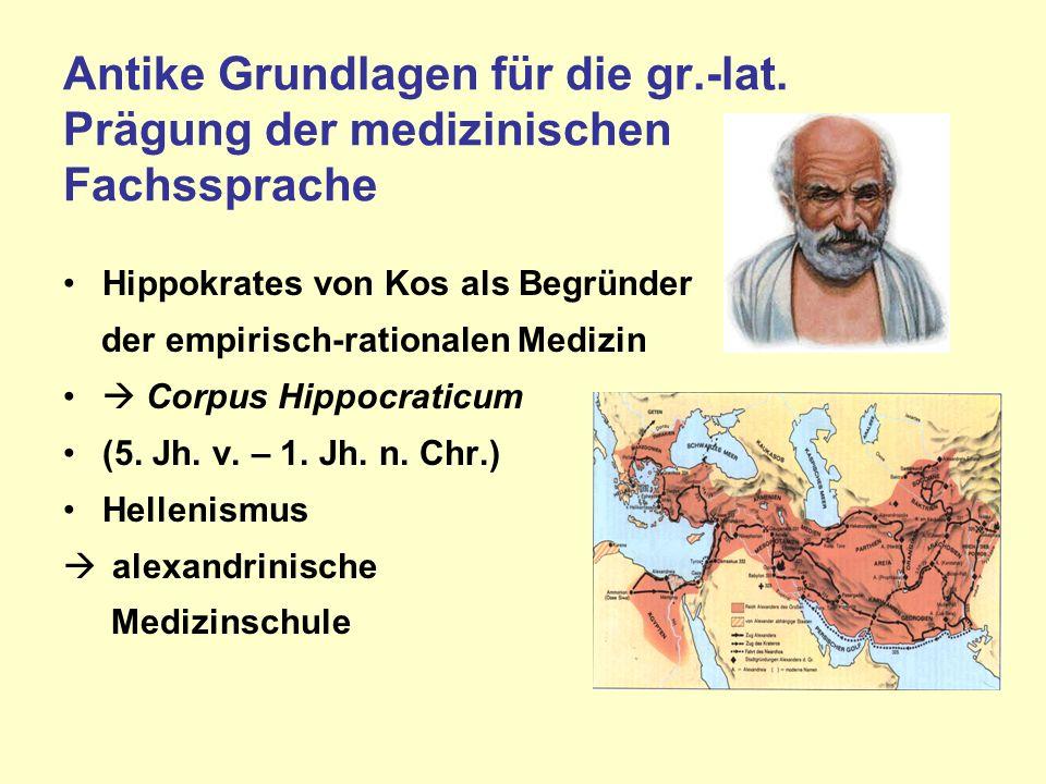 Antike Grundlagen für die gr. -lat