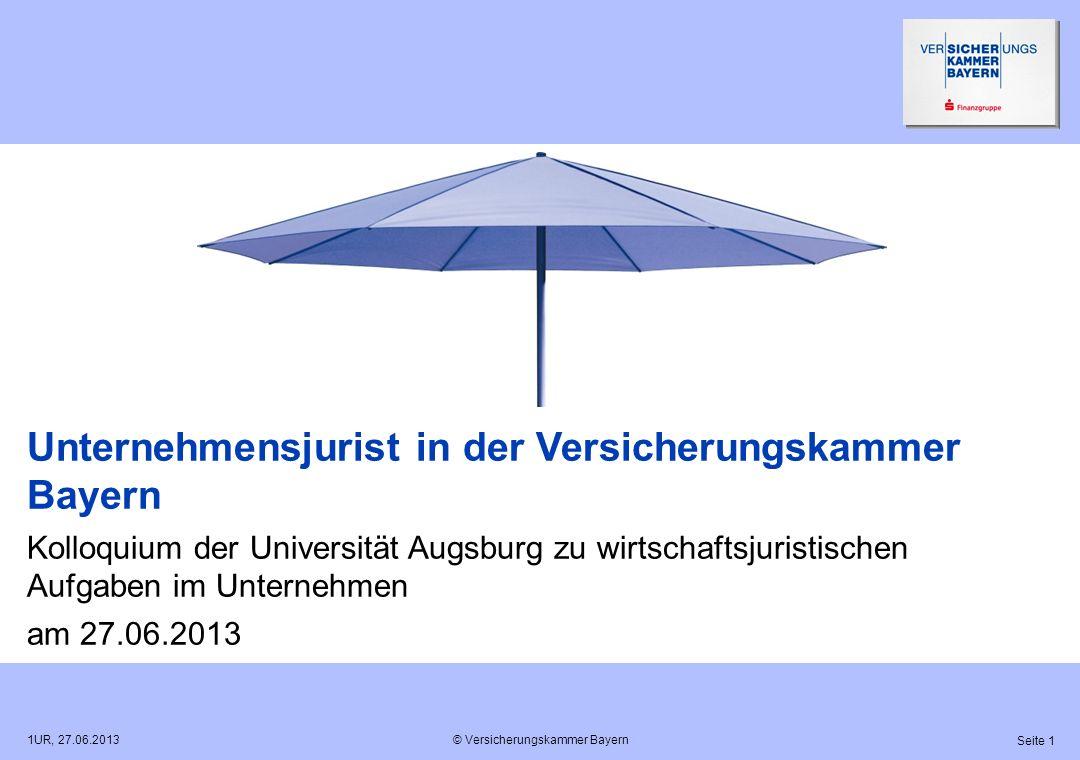 Unternehmensjurist in der Versicherungskammer Bayern