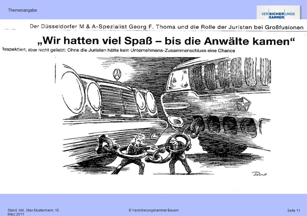 Themenangabe Stand: Abt., Max Mustermann, 15. März 2011