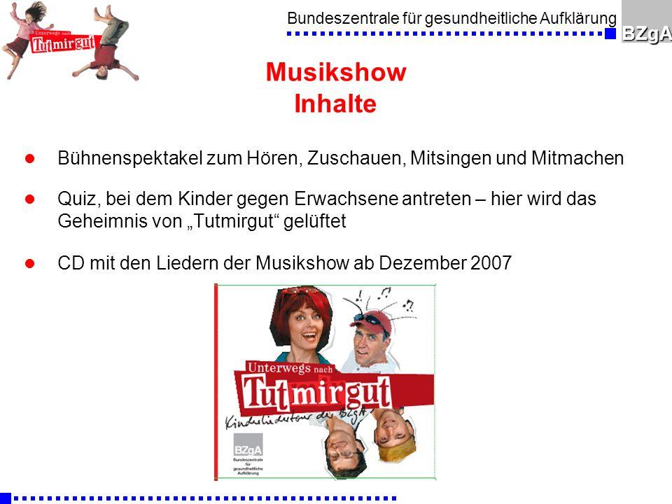 Musikshow Inhalte Bühnenspektakel zum Hören, Zuschauen, Mitsingen und Mitmachen.
