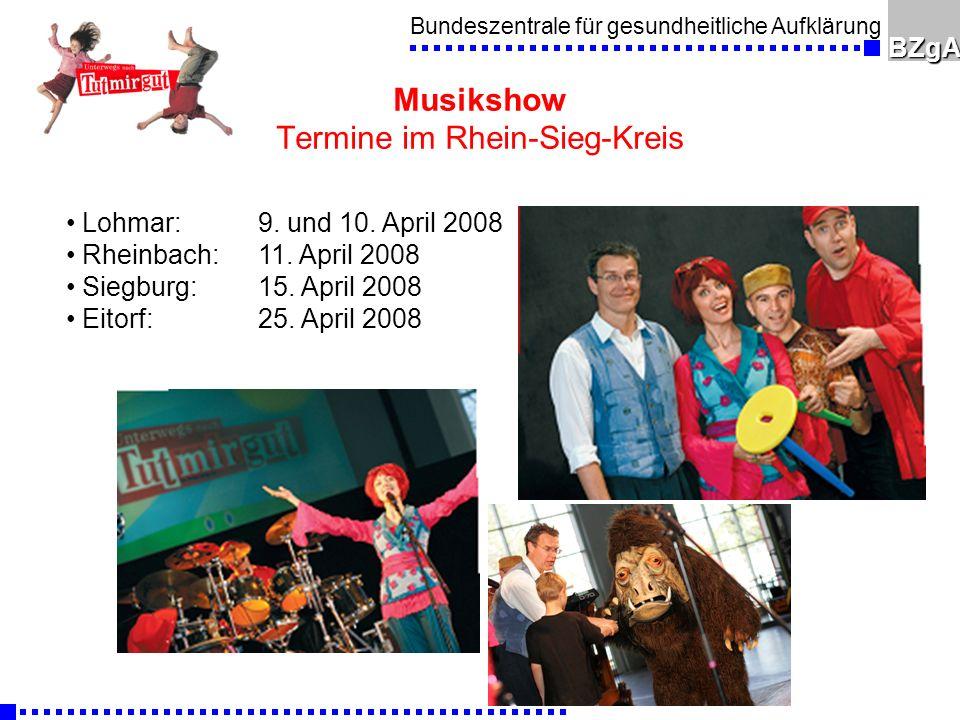 Musikshow Termine im Rhein-Sieg-Kreis