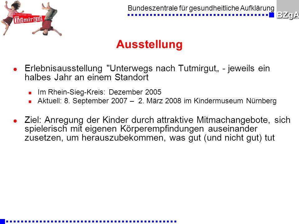 """Ausstellung Erlebnisausstellung Unterwegs nach Tutmirgut"""" - jeweils ein halbes Jahr an einem Standort."""