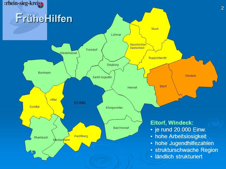 FrüheHilfen Eitorf, Windeck: je rund 20.000 Einw.