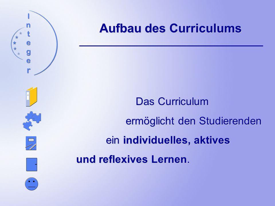 Aufbau des Curriculums