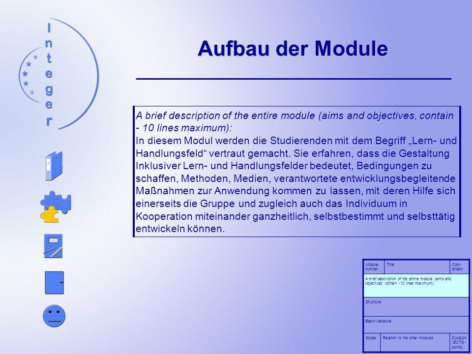 Aufbau der Module
