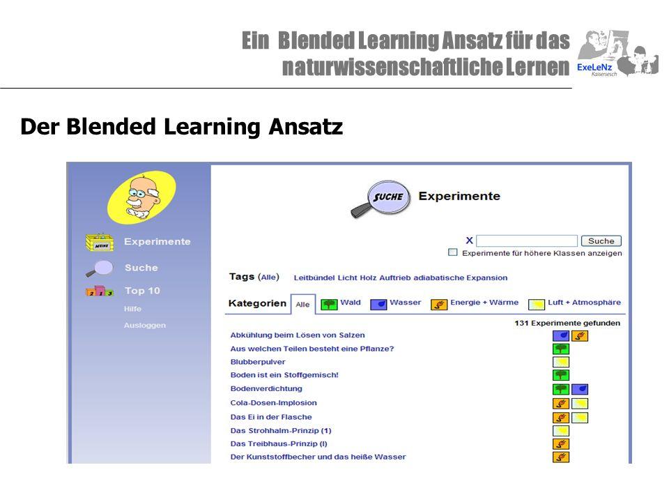 Ein Blended Learning Ansatz für das naturwissenschaftliche Lernen