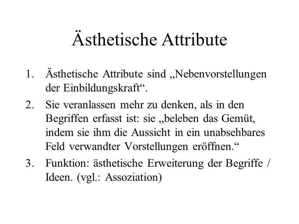 Ästhetische Attribute