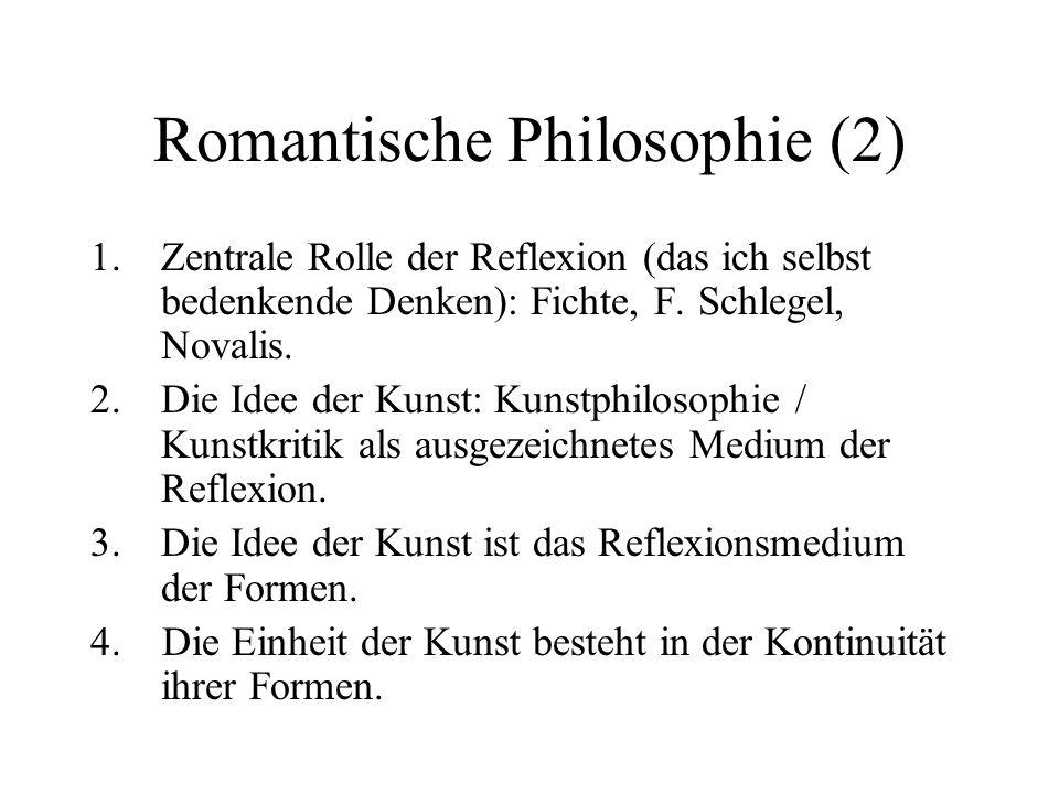 Romantische Philosophie (2)