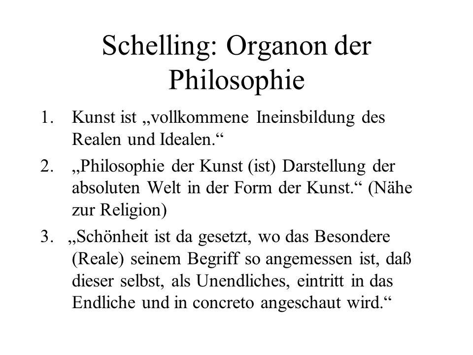 Schelling: Organon der Philosophie