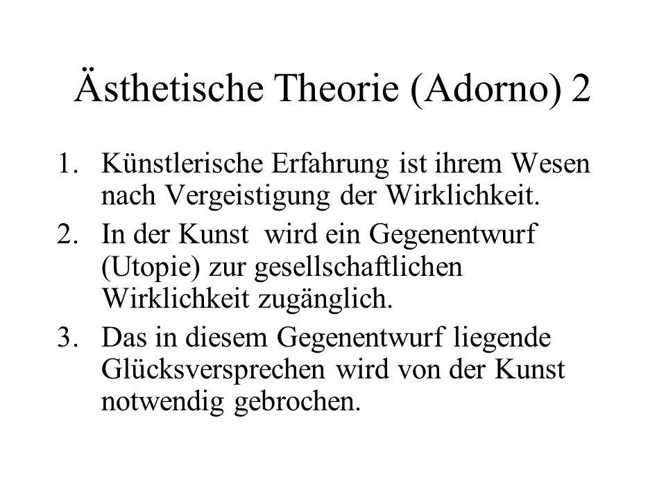 Ästhetische Theorie (Adorno) 2
