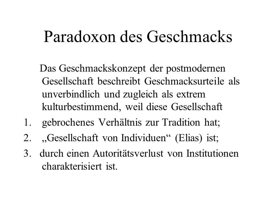 Paradoxon des Geschmacks