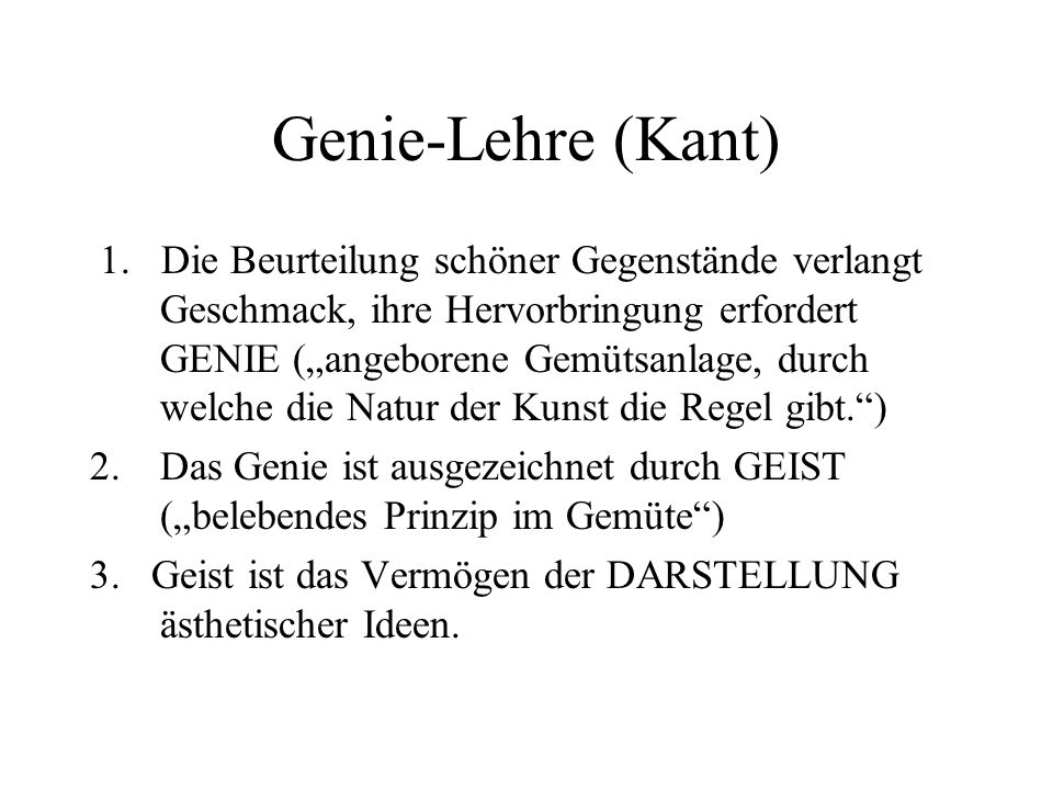 Genie-Lehre (Kant)