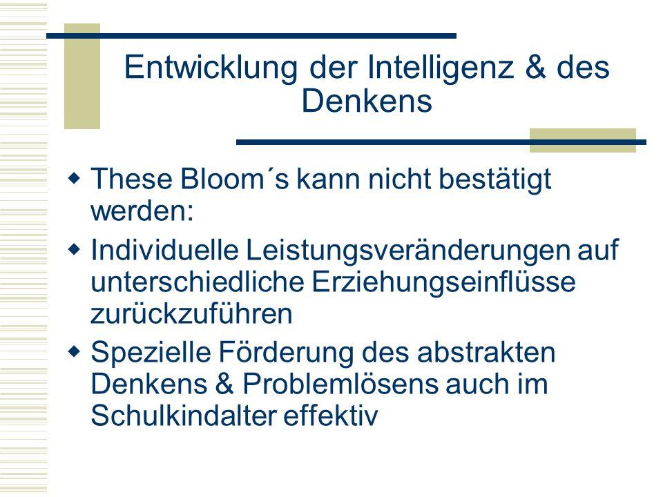 Entwicklung der Intelligenz & des Denkens